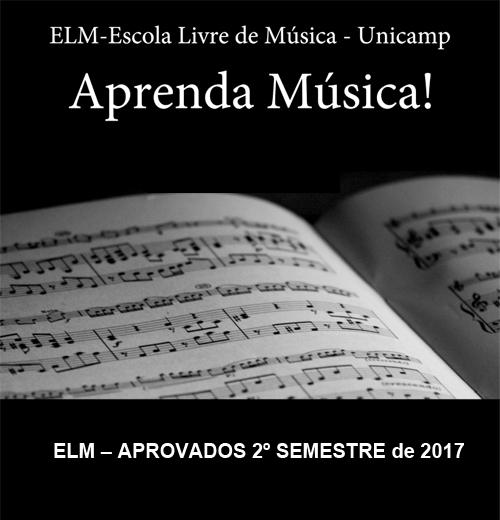 Cartaz lista de aprovados segundo semestre cursos ELM