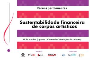 Fórum Sustentabilidade Financeira de Corpos Artísticos em 31/10