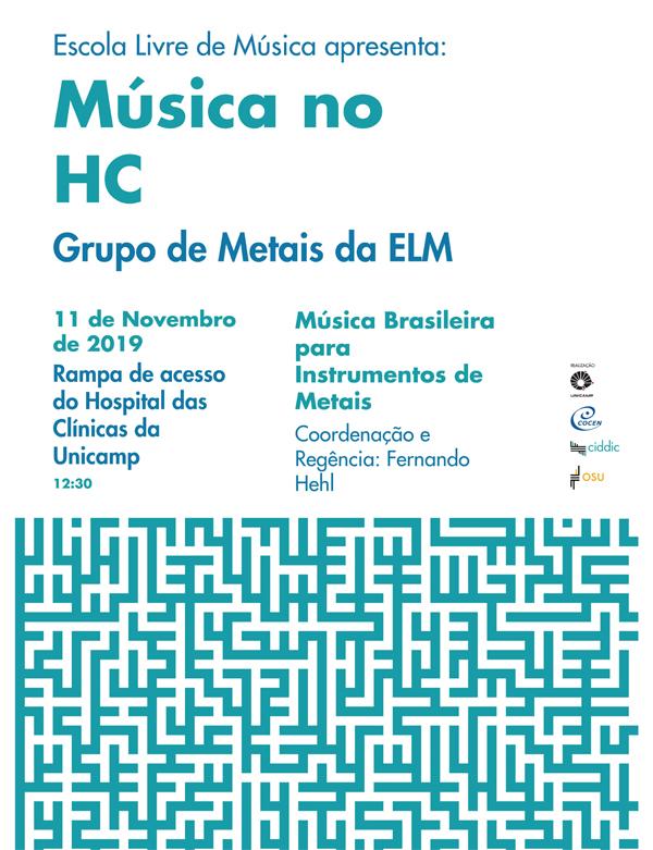 Cartaz música no HC Grupo de metais da ELM