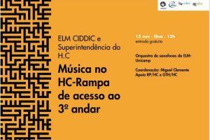 Escola Livre de Música traz uma série de apresentações musicais em parceria com a Superintendência do H.C da Unicamp