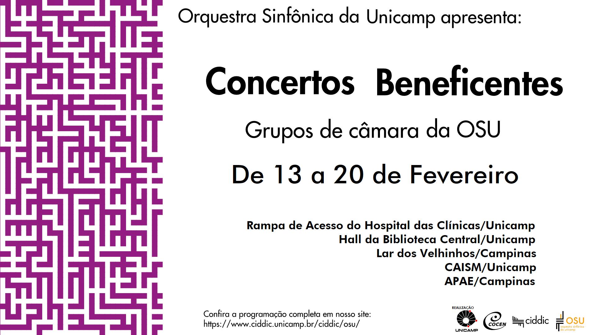 Cartaz dos concertos beneficentes da OSU 2020