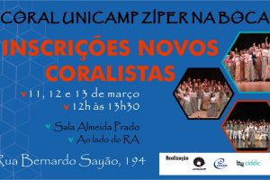 Coral Unicamp Zíper na Boca abre inscrições pra novos coralistas