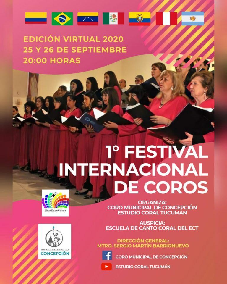 Cartaz do 1° festival internacional de coros